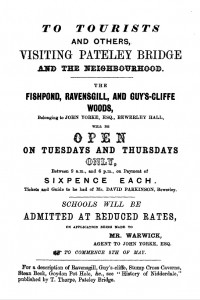 Advertisement (taken from 'Nidderdale' by W. Grainge, 1863)