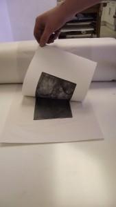 Print coming off a press