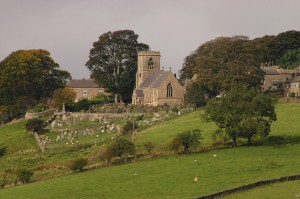 Middlesmoor Church Seen From Above Lofthouse - EM