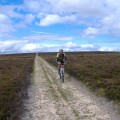 Mountain biking across Grewelthorpe Moor