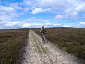 Mountain biking across Grewelthorpe Moor
