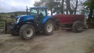 Tractor and silage machinary