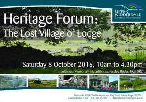 Heritage Forum Flyer 2016