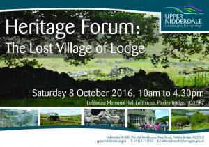 Heritage Forum Flyer 2016