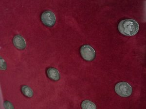 A selection of Roman coins